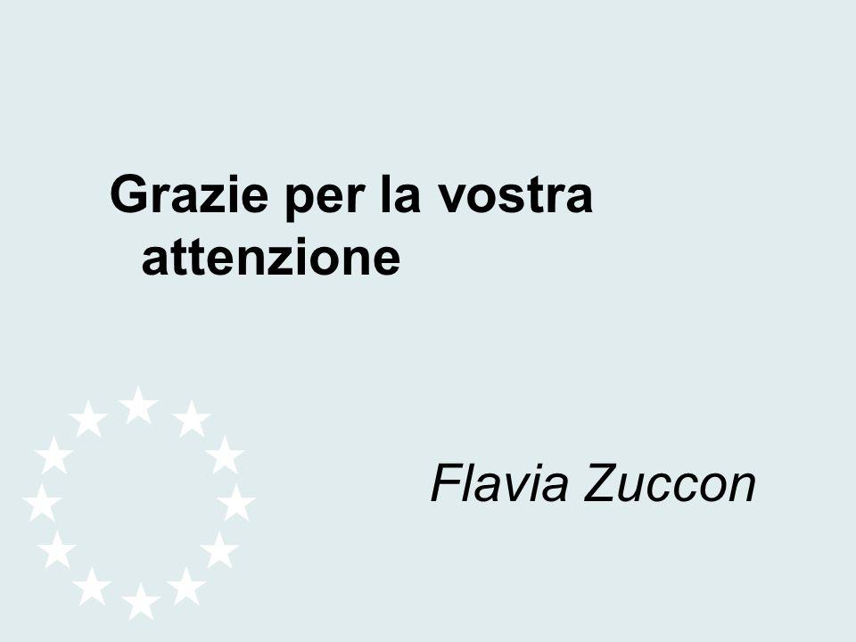 Grazie per la vostra attenzione Flavia Zuccon