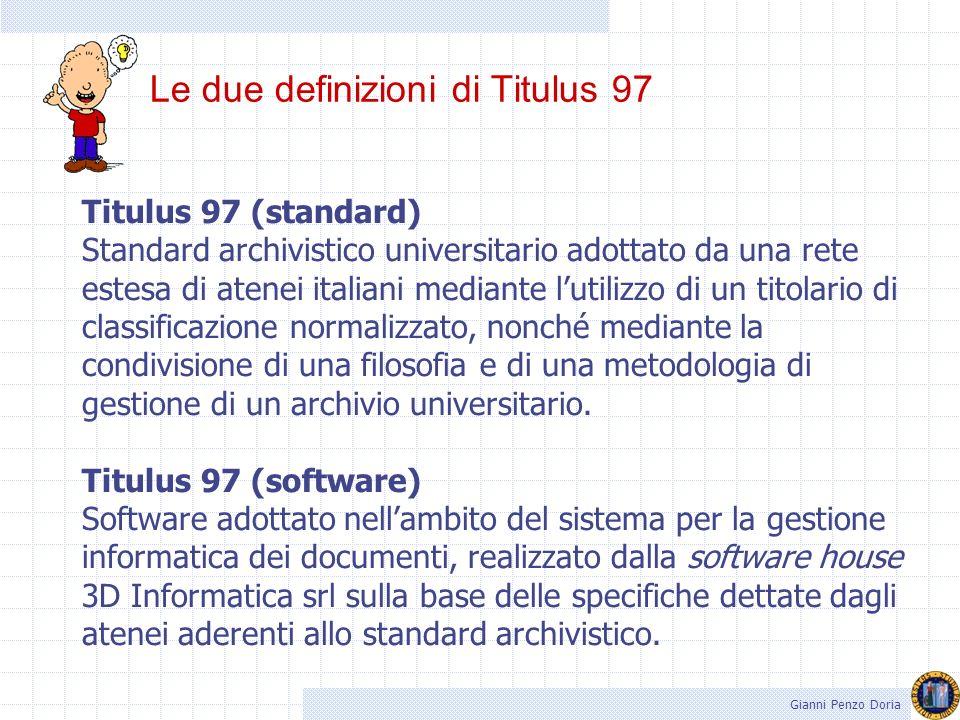 54 Al progetto Titulus 97 hanno aderito 54 Atenei italiani