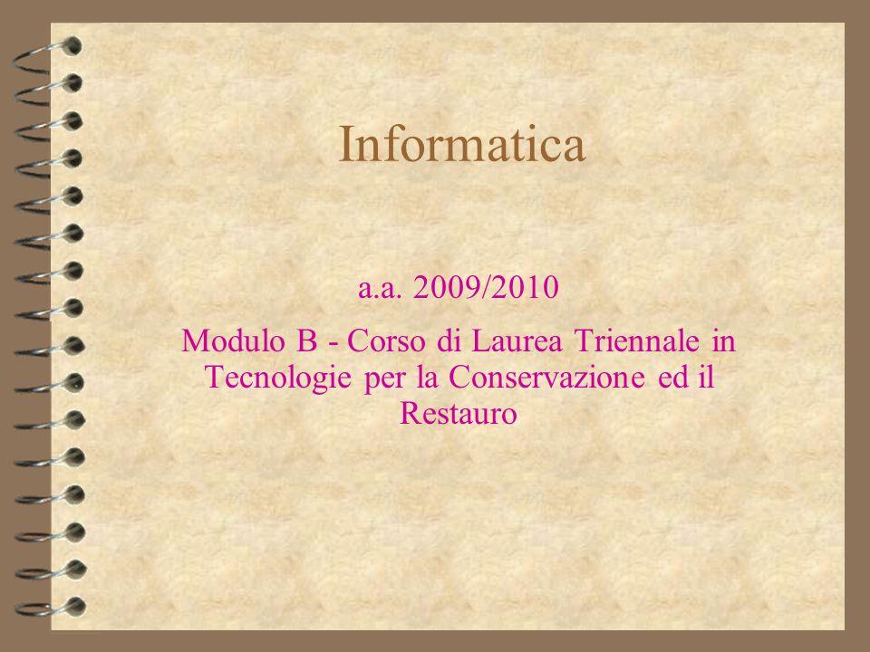Informatica a.a.