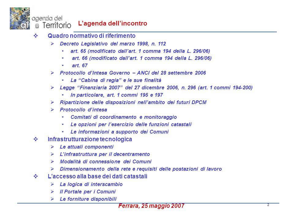 2 Quadro normativo di riferimento Decreto Legislativo del marzo 1998, n.