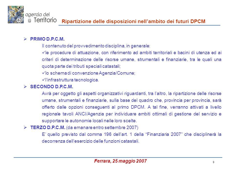 9 PRIMO D.P.C.M.