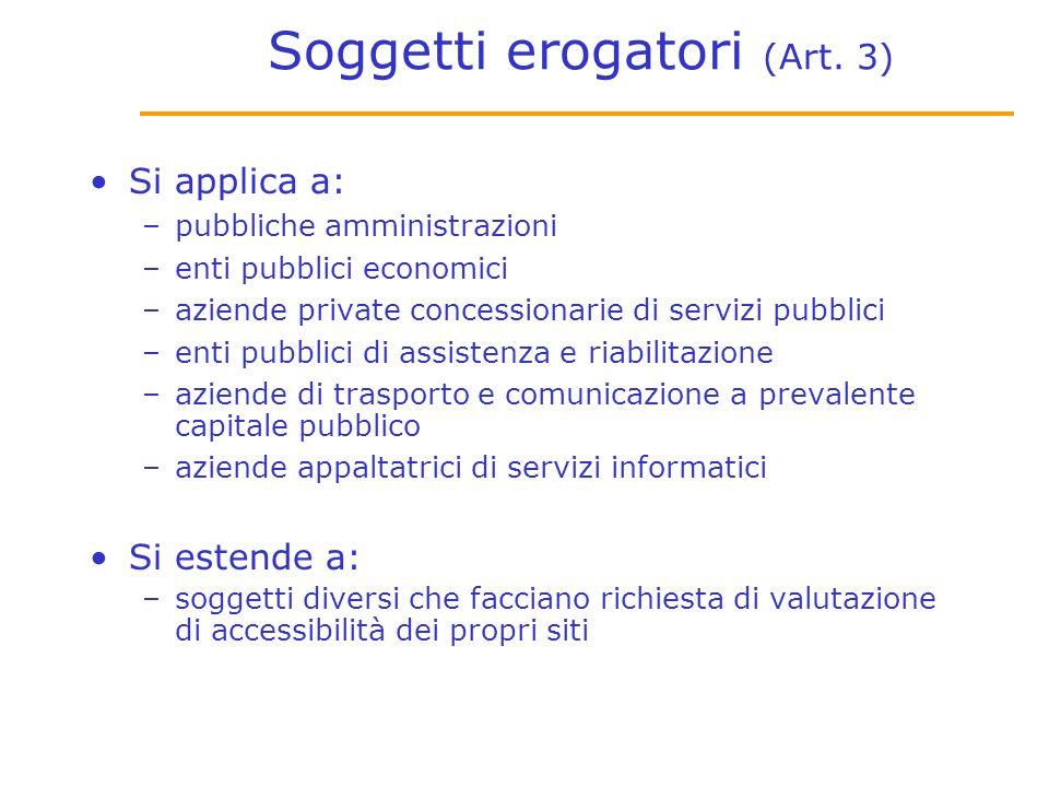 Soggetti erogatori (Art.