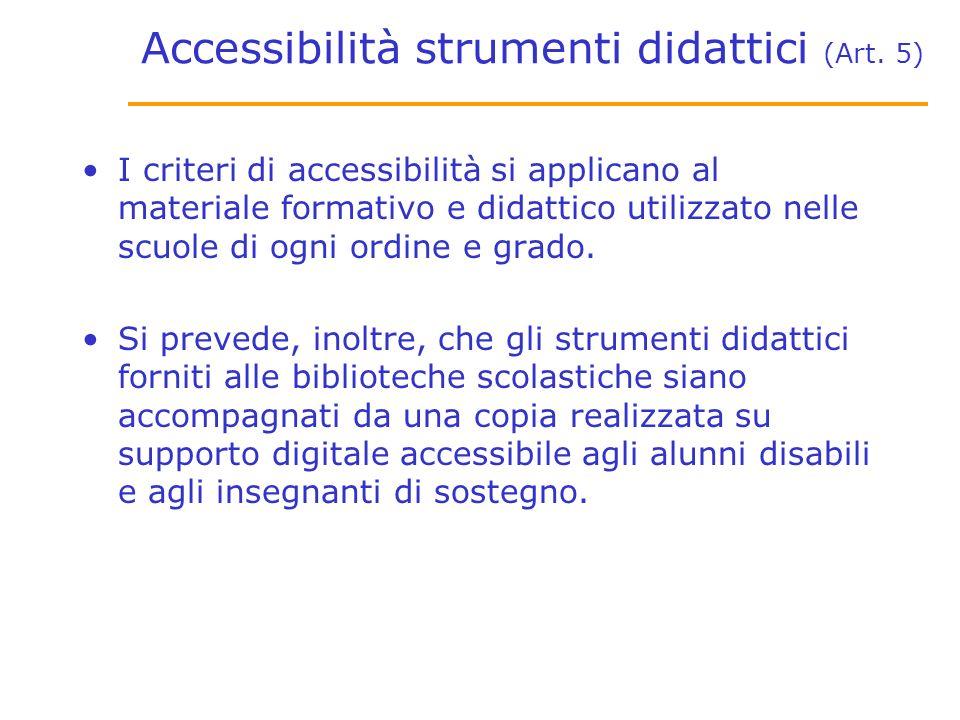 Accessibilità strumenti didattici (Art.