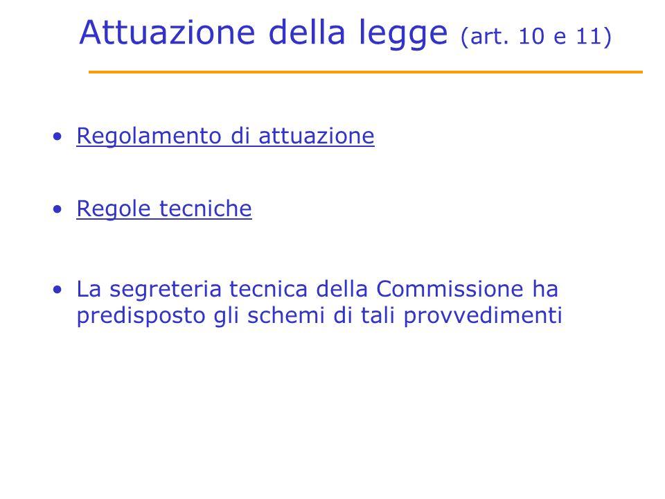 Attuazione della legge (art.
