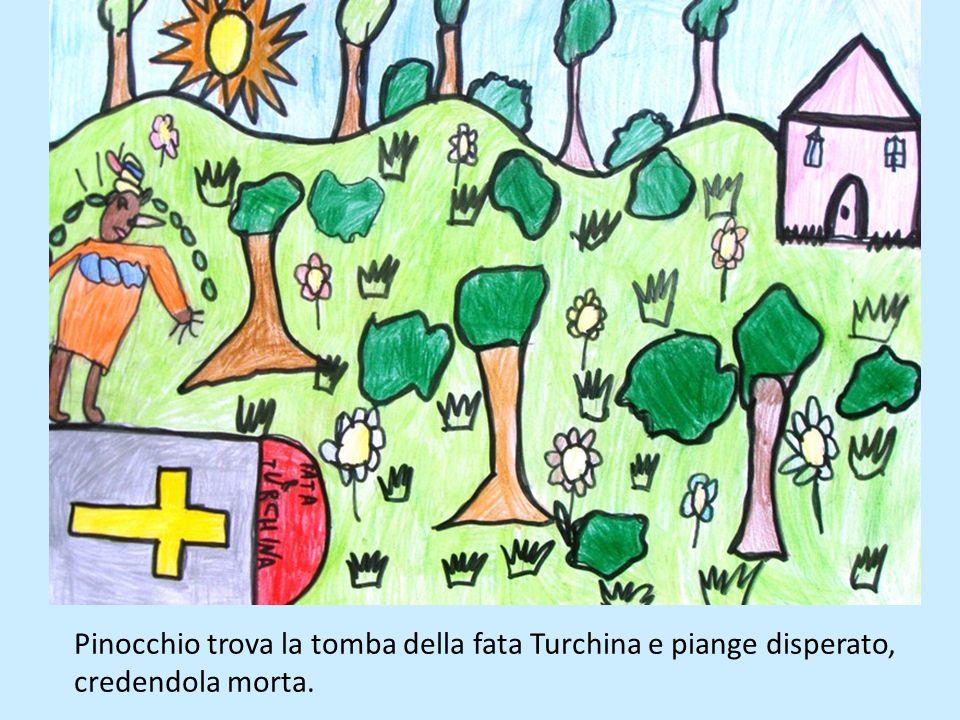 Il contadino mette Pinocchio a fare la guardia al pollaio, legandolo alla catena la posto del cane. Pinocchio riesce a catturare le faine, perciò il c