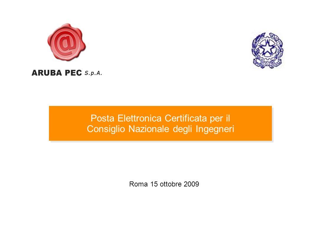 Posta Elettronica Certificata per il Consiglio Nazionale degli Ingegneri Posta Elettronica Certificata per il Consiglio Nazionale degli Ingegneri Roma