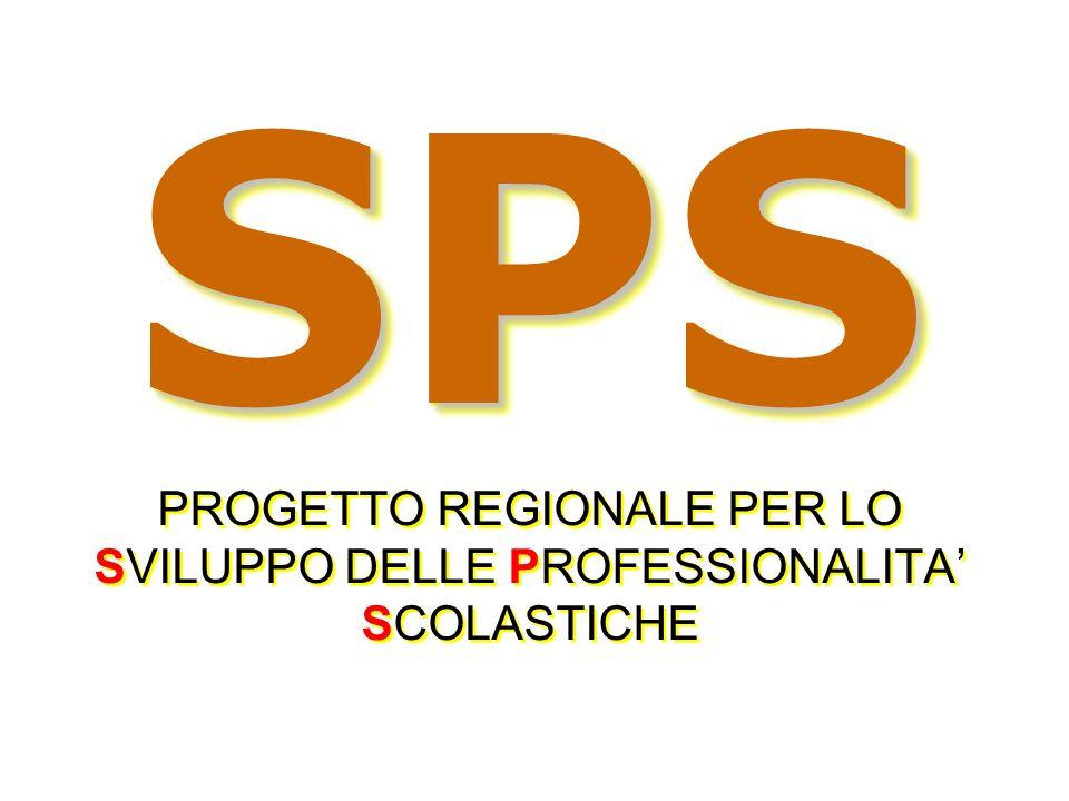 SPS SPS PROGETTO REGIONALE PER LO SVILUPPO DELLE PROFESSIONALITA SCOLASTICHE SPS PROGETTO REGIONALE PER LO SVILUPPO DELLE PROFESSIONALITA SCOLASTICHE