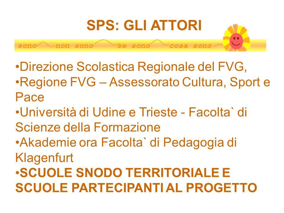 sono non sono se sono cosa sono Direzione Scolastica Regionale del FVG, Regione FVG – Assessorato Cultura, Sport e Pace Università di Udine e Trieste