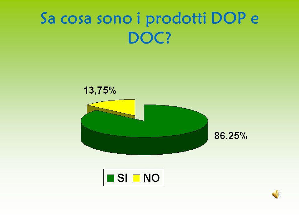 Sa cosa sono i prodotti DOP e DOC?