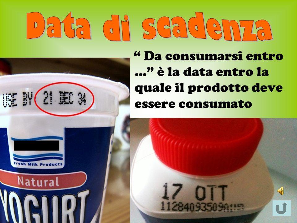Da consumarsi entro … è la data entro la quale il prodotto deve essere consumato