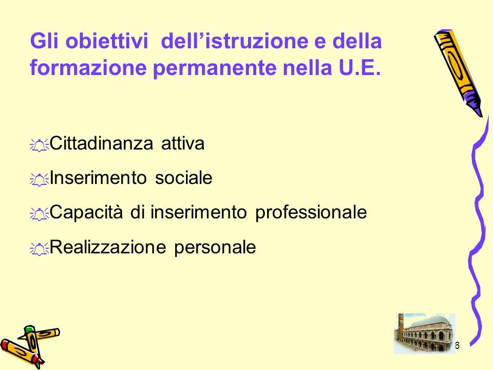7 Gli obiettivi da raggiungere entro il 2010 - Unione Europea.