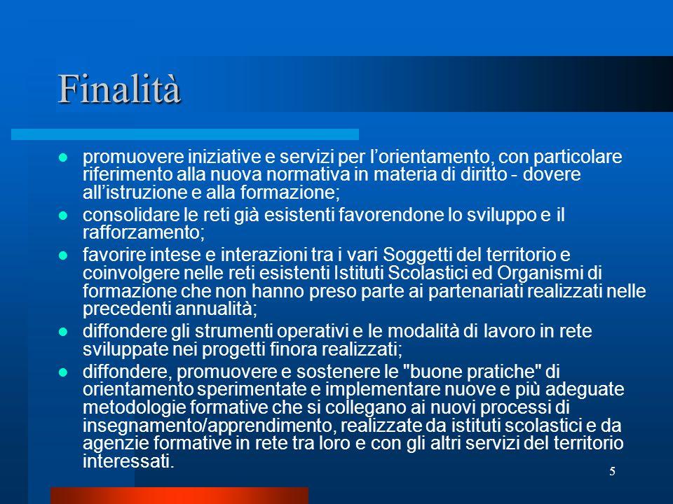 6 Presentazione del progetto Il soggetto proponente dovrà essere iscritto nellelenco regionale degli organismi di formazione accreditati di cui alla L.R.