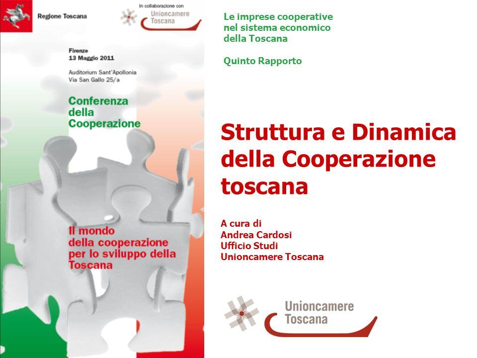 Struttura e Dinamica della Cooperazione toscana A cura di Andrea Cardosi Ufficio Studi Unioncamere Toscana Le imprese cooperative nel sistema economic