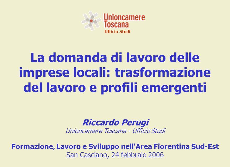 Fonte: Unioncamere-Ministero del Lavoro, Sistema Informativo Excelsior Assunzioni programmate per gruppi professionali nella provincia di Firenze Ufficio Studi