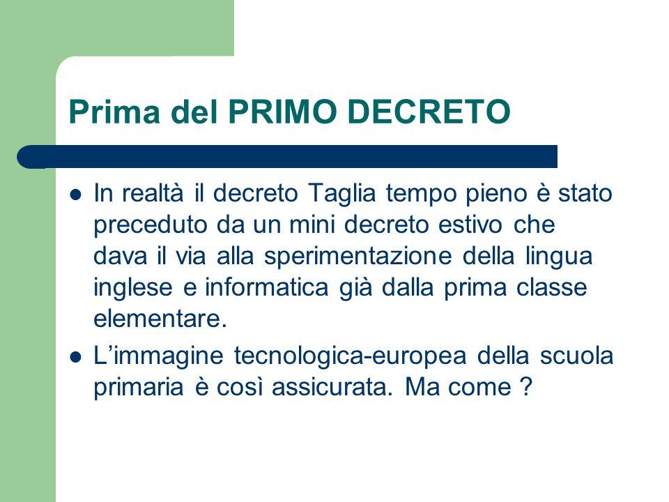 Il processo non sarà graduale.Articolo 13 - Scuola primaria 2.