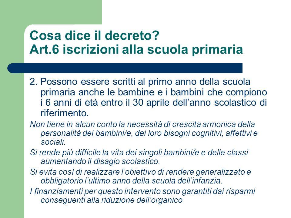 Cosa dice il decreto.Art.7. attività educative e didattiche 1.