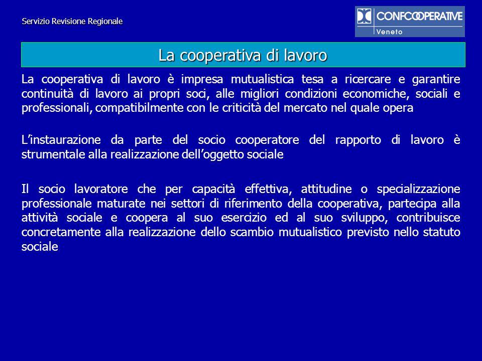 Servizio Revisione Regionale In presenza di una pluralità di contratti collettivi della medesima categoria, le società cooperative che svolgono attività ricomprese nell ambito di applicazione di quei contratti di categoria applicano ai propri soci lavoratori, ai sensi dell articolo 3, comma 1, e dellarticolo 6, comma 2, della legge 3 aprile 2001, n.