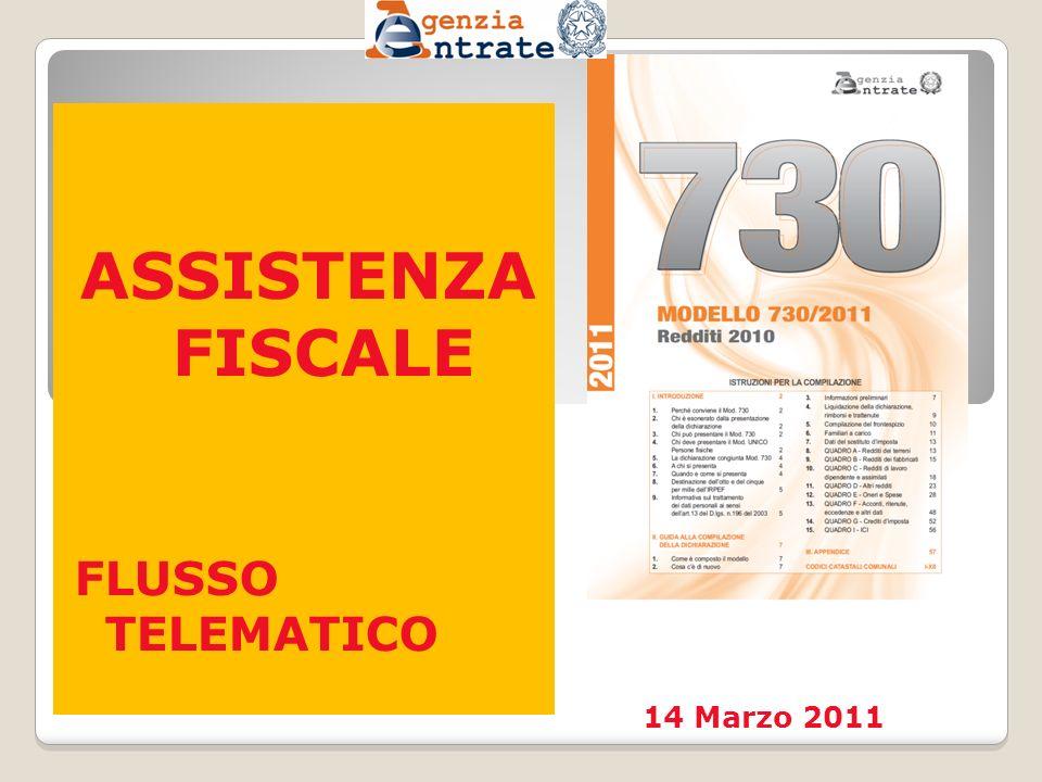 ASSISTENZA FISCALE FLUSSO TELEMATICO 14 Marzo 2011