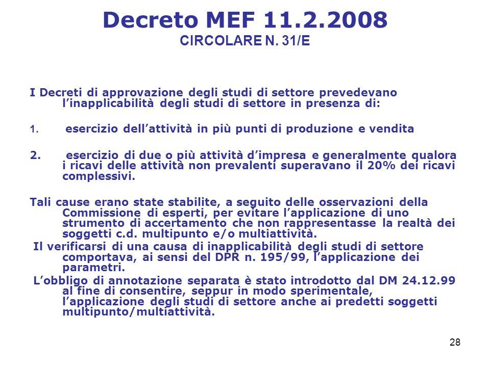 28 Decreto MEF 11.2.2008 CIRCOLARE N.