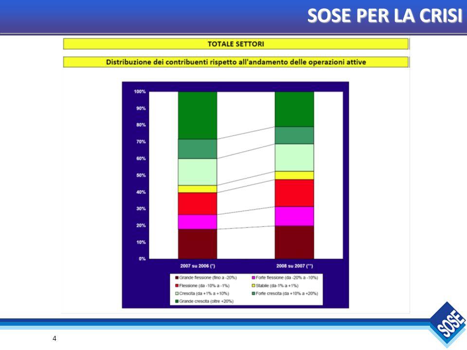 15 SOSE PER LA CRISI Elaborazioni su un panel di 2.200.000 contribuenti che hanno applicato gli Studi di Settore nel triennio 2006-2008.