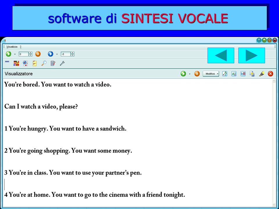 software di SINTESI VOCALE