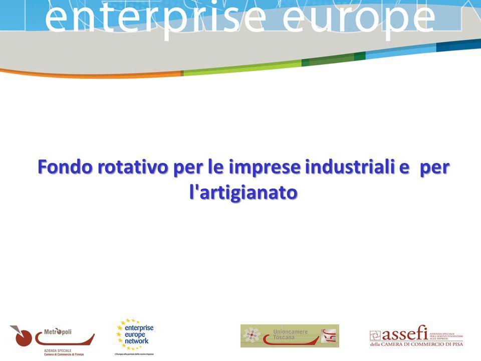 Fondo rotativo per le imprese industriali e per l artigianato