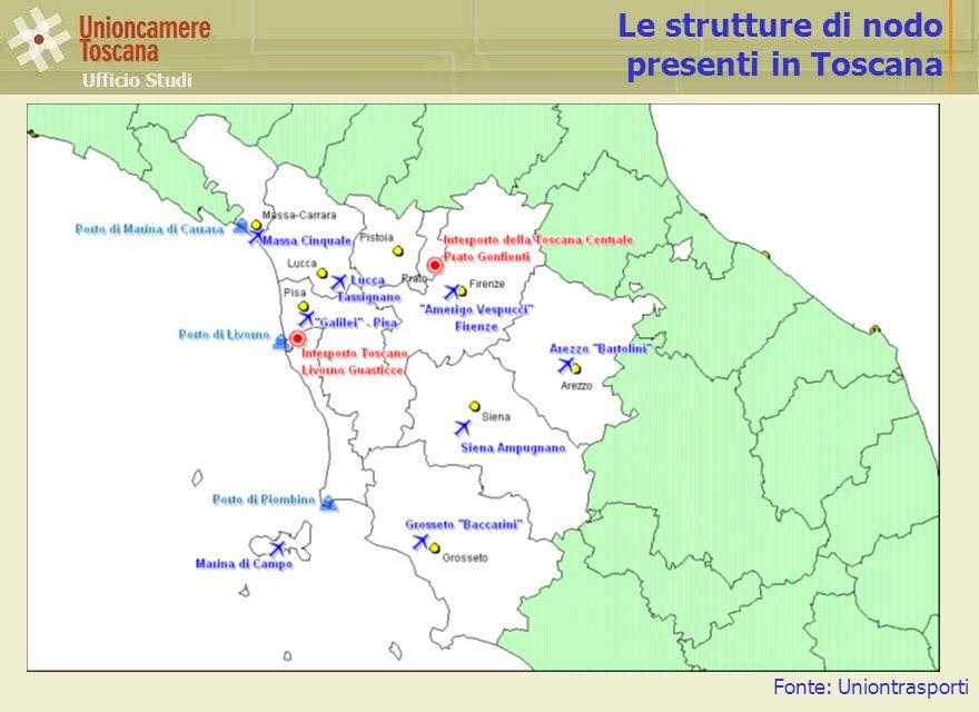 Ufficio Studi Le strutture di nodo presenti in Toscana Fonte: Uniontrasporti