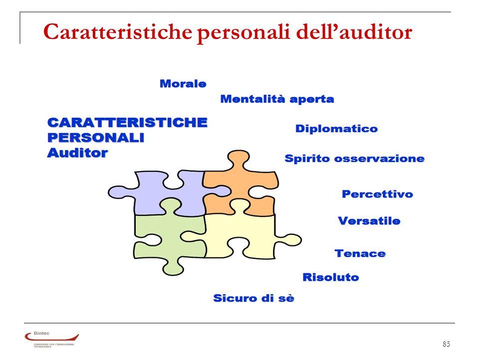 85 Caratteristiche personali dellauditor