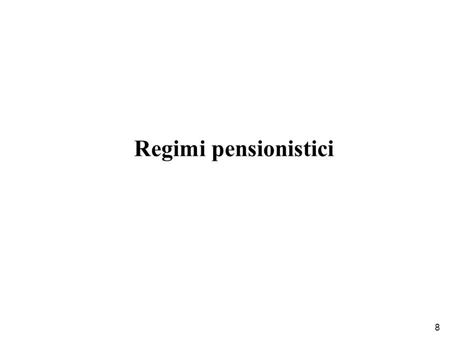 8 Regimi pensionistici