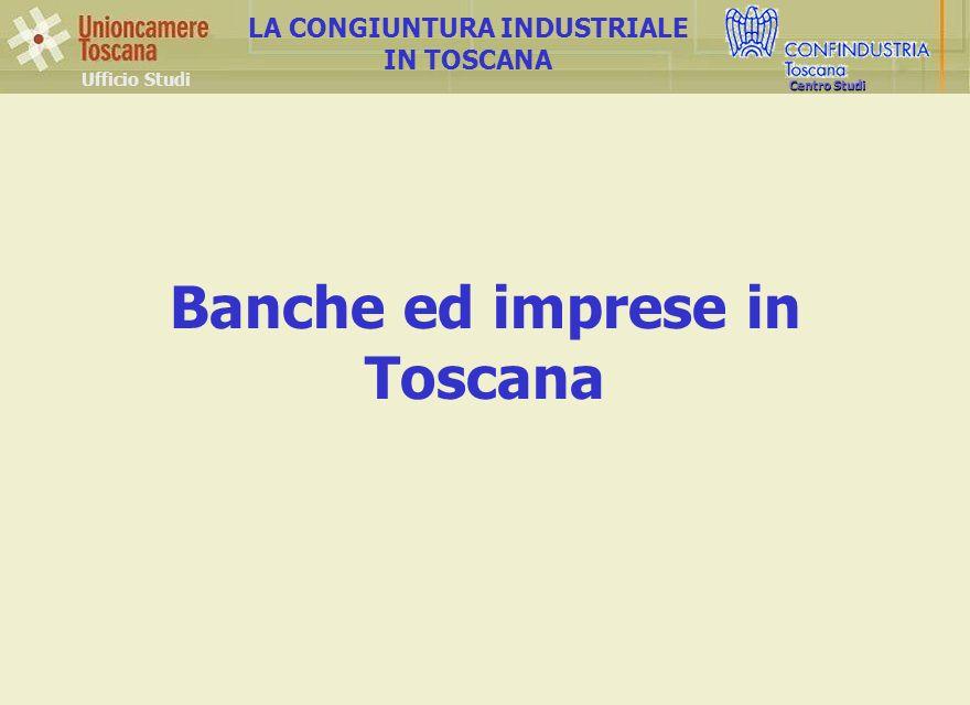 Ufficio Studi LA CONGIUNTURA INDUSTRIALE IN TOSCANA Centro Studi Banche ed imprese in Toscana
