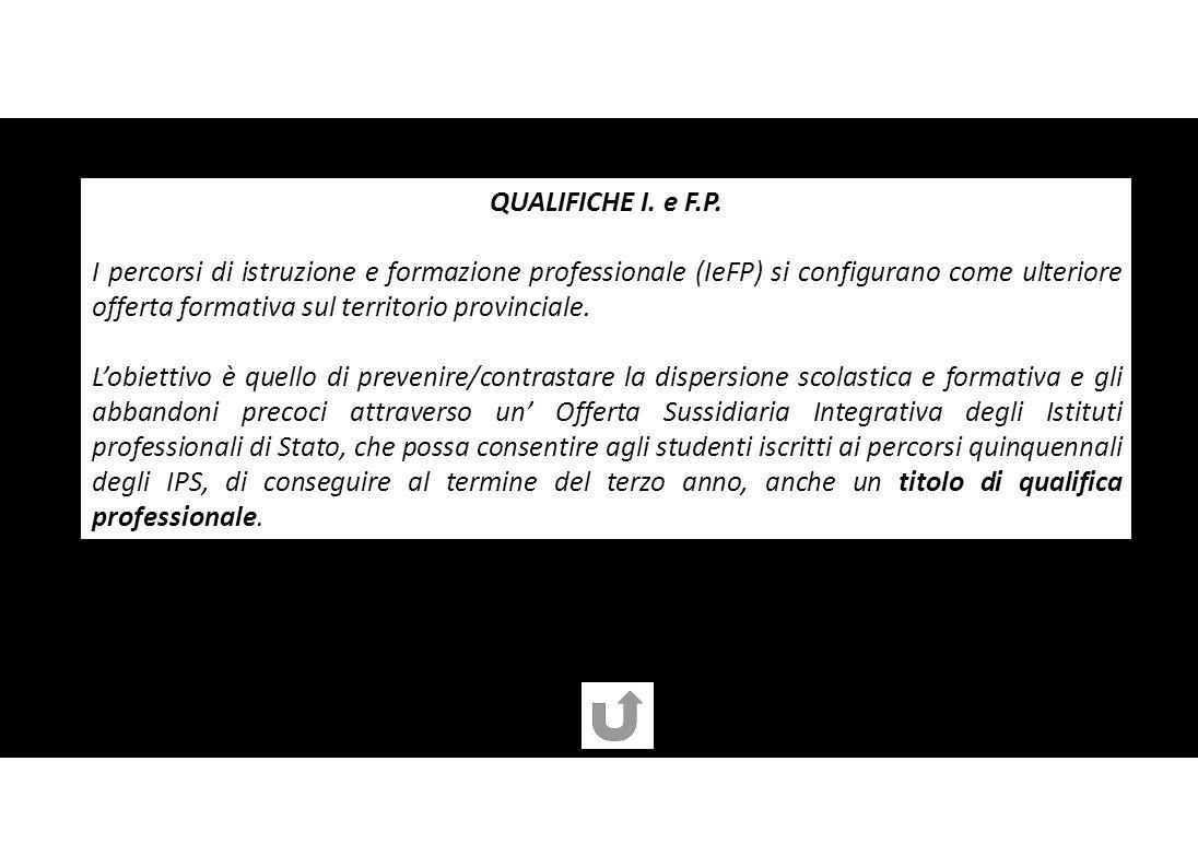 QUALIFICHE I. e F.P.