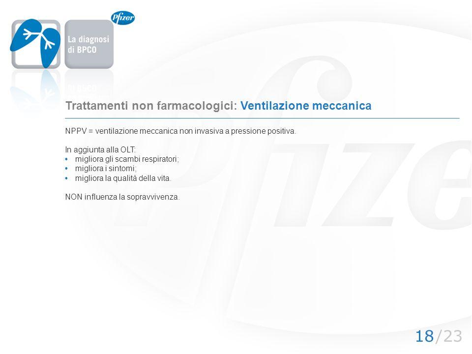 /2318 Trattamenti non farmacologici: Ventilazione meccanica NPPV = ventilazione meccanica non invasiva a pressione positiva. In aggiunta alla OLT: mig