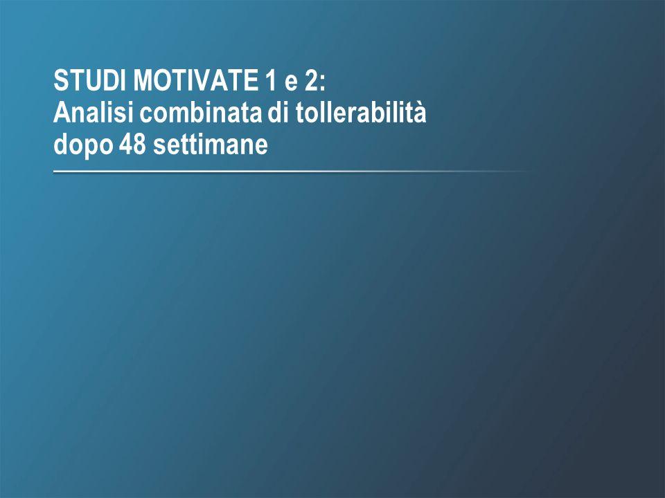 STUDI MOTIVATE 1 e 2: Analisi combinata di tollerabilità dopo 48 settimane
