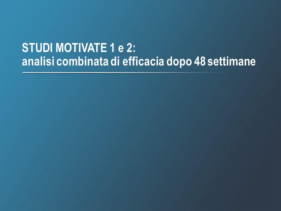 2 STUDI MOTIVATE 1 e 2: analisi combinata di efficacia dopo 48 settimane