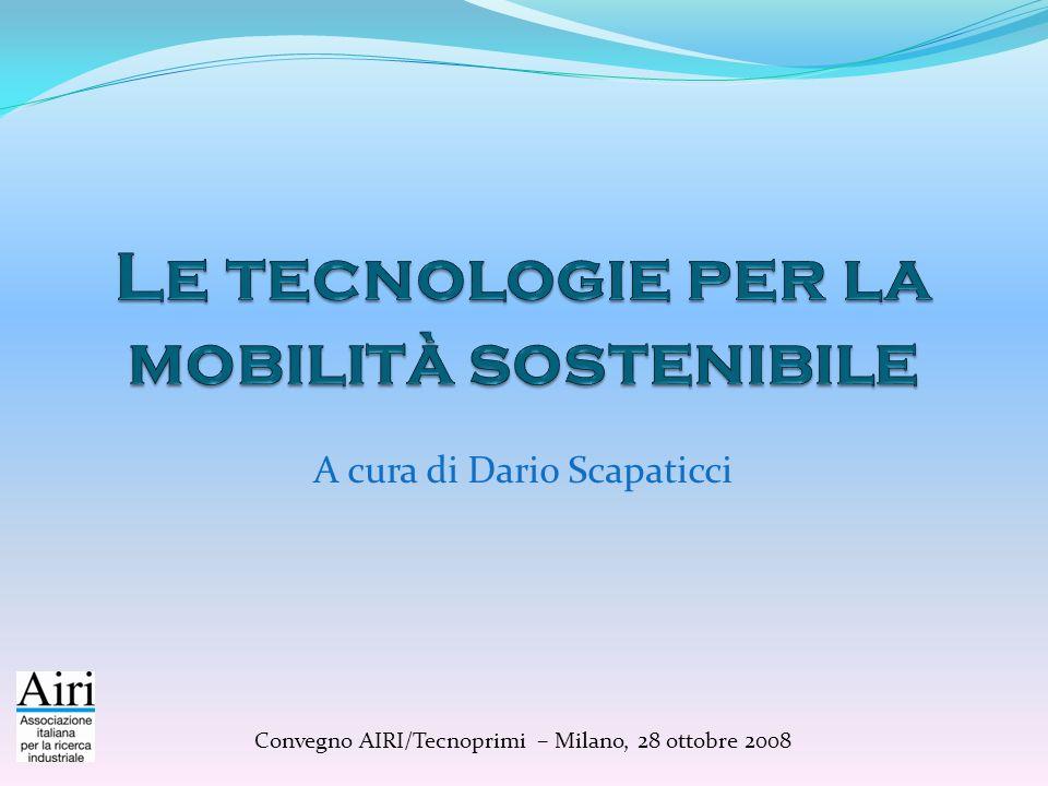 Aree tecnologiche prioritarie (2) Sistemi di trasporto intelligente Tecnologie per il Trasporto Intelligente monitoraggio, controllo e gestione della mobilità urbana e dello scambio tra modi di trasporto Tecnologie per la Cooperazione Veicolo - Infrastrutture gestione integrata della mobilità urbana Asse prioritario per garantire una mobilità sostenibile nellarea Milanese urbana e periurbana Presenza di una forte domanda di regolazione, monitoraggio e controllo del traffico causata dalla complessità della problematica Qualificata rete di competenza pubbliche e private che gravitano intorno al sistema della mobilità intelligente