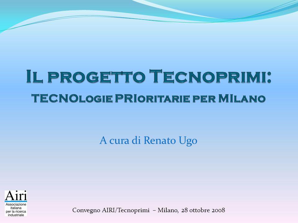 A cura di Renato Ugo Convegno AIRI/Tecnoprimi – Milano, 28 ottobre 2008