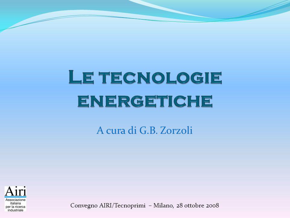 A cura di G.B. Zorzoli Convegno AIRI/Tecnoprimi – Milano, 28 ottobre 2008
