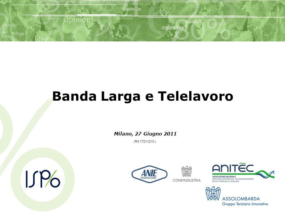 2 Indice Obiettivi e MetodologiaPag.3 Executive summary4 Lutilizzo e linteresse per la banda larga9 Lutilizzo di Internet15 I giudizi circa la banda larga19 Il telelavoro23