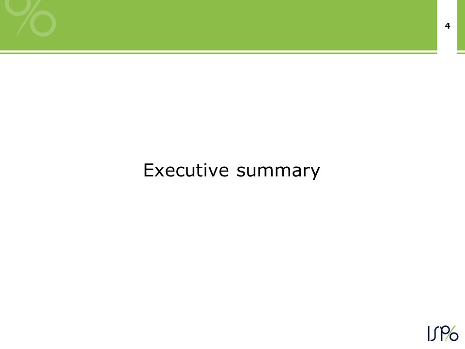4 Executive summary
