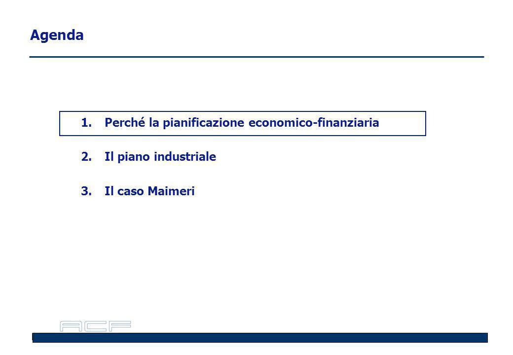 Agenda 1.Perché la pianificazione economico-finanziaria 2.Il piano industriale 3.Il caso Maimeri