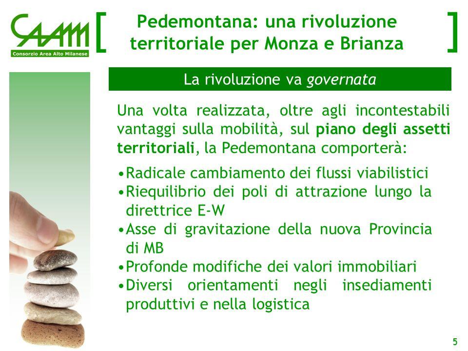 [ ] 6 Gli effetti della Pedemontana Lautostrada Pedemontana si configura come unopera rilevante sia per il rilancio delle economie locali dei contesti attraversati e sia per la riorganizzazione dei flussi di traffico nel nord della Regione Metropolitana Milanese.