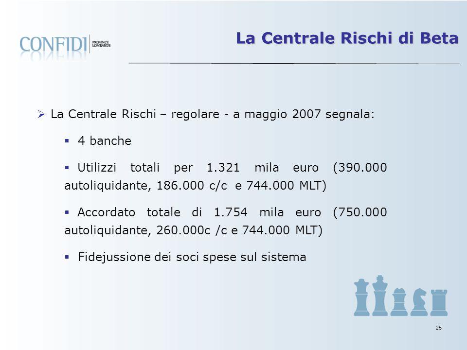 24 Capacità della proprietà di sostenere la società con mezzi propri (presente un finanziamento soci infruttifero per 1,4 mio euro) MP/Totale di Bilan
