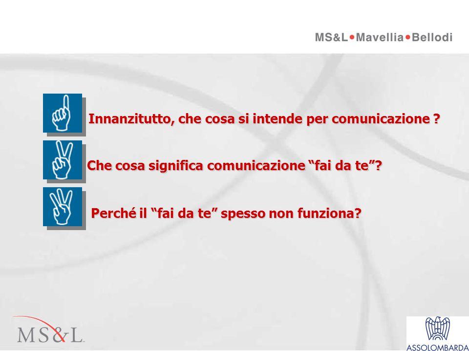 Milano, 02 luglio 2003 I parte Comunicazione fai da te…ahi ahi ahi.