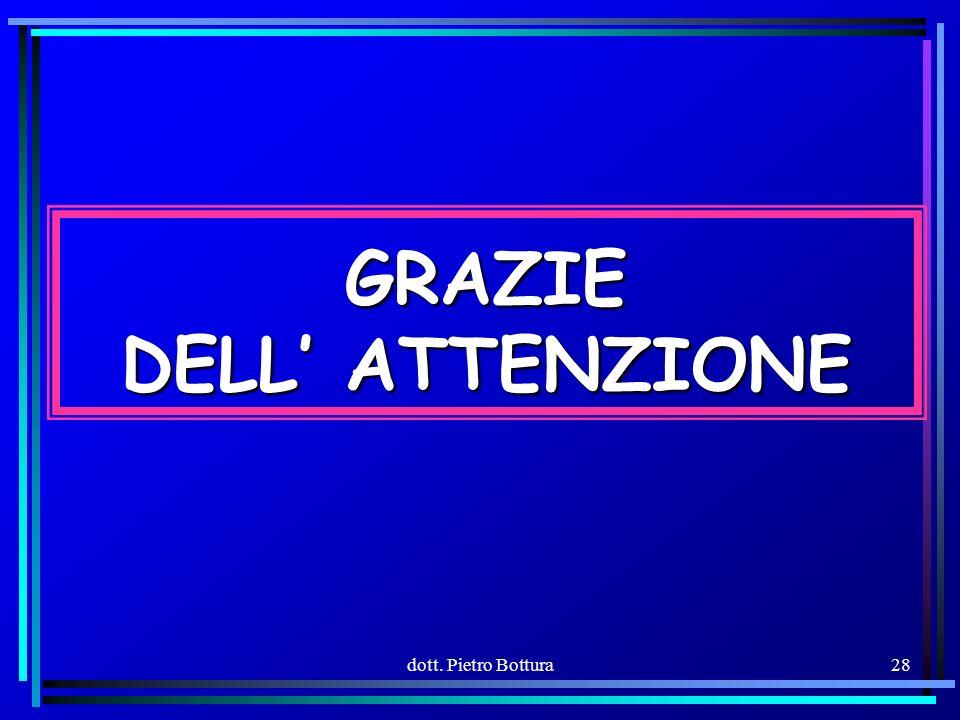 dott. Pietro Bottura28 GRAZIE DELL ATTENZIONE