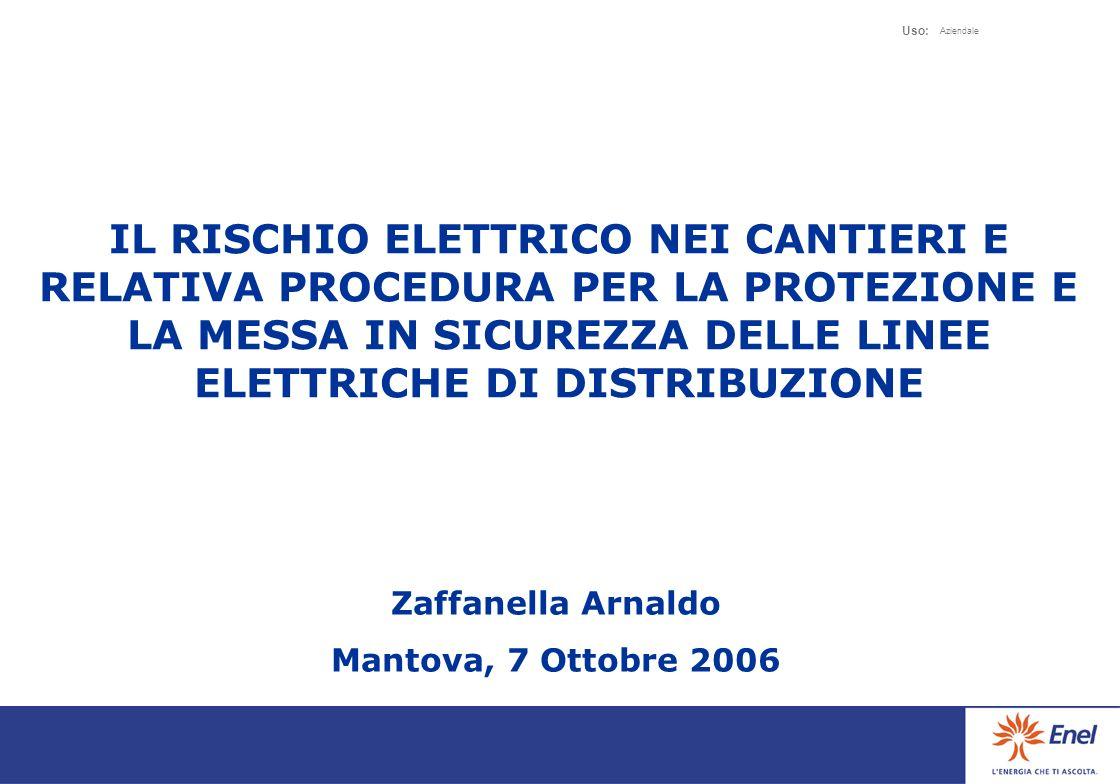 Uso: Aziendale 10 E quindi indispensabile chiedere tali informazioni allazienda distributrice proprietaria dellimpianto elettrico per poi valutare le soluzioni da adottare.