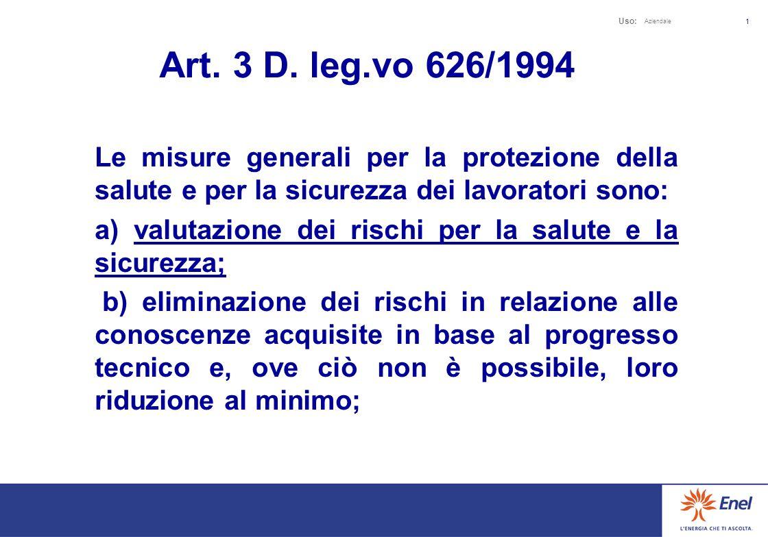 Uso: Aziendale 21 VIOLAZIONE DELLART.