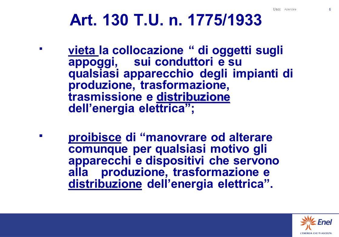 Uso: Aziendale 5 Art.130 T.U. n.