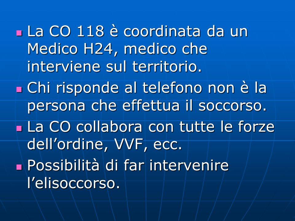 E di gestione provinciale, la Centrale Operativa si trova in H a Mantova.