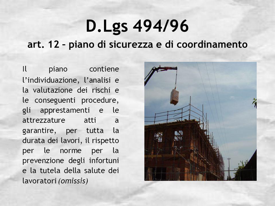 D.Lgs 494/96 art.