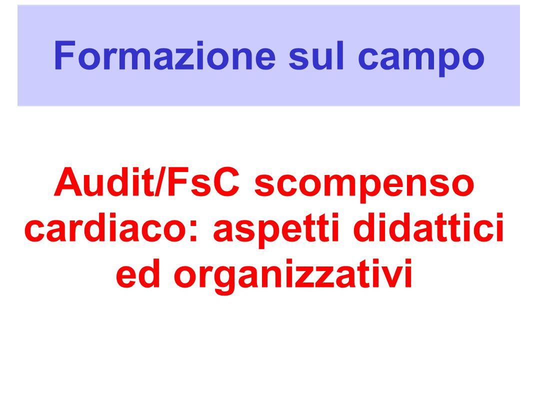 Formazione sul campo Audit/FsC scompenso cardiaco: aspetti didattici ed organizzativi